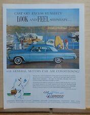 1962 magazine ad for Harrison Air Conditioning - Chevrolet Impala feel shipshape