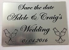 WEDDING FAVOURS RECTANGLE ENGRAVED ACRYLIC SAVE THE DATE FRIDGE MAGNET