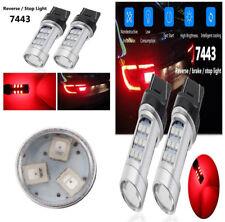 T20 7443 W21/5W Red LED Taillight Strobe Blinking Alert Safety Brake Stop Lights