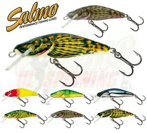 Salmo Fishing Lure Bullhead 4,5cm and 6cm Floating Sinking Trout Bass Crankbait