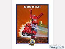 Tonka Toys 80s Gobots Scooter Giclee Print Poster Artwork Art Illustration