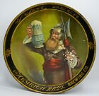 """Antique 1907 Select Beer Serving Tray Hemrich Bros. Brewing Co. 12"""" Nachtwachter"""
