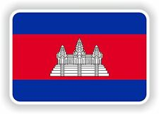 1x STICKER Cambodia Flag Bumper Decal Car Fridge Tablet Door Book Skateboard