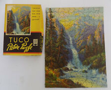 Tuco Picture Puzzle Twin Falls Painting  by W. M Thompson 12 x 16