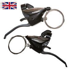 Shimano ST-EF51 GEAR Shifter//Brake Lever 3 x 7,8,21,24 Speed Set Black Lever UK