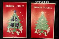 VTG 40s 50s RIBBON ICICLES USA XMAS TREE LEAD FOIL TINSEL BOX NEW OLD NOS NIB