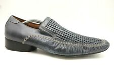 6c7afd196fc72 Giorgio Brutini Blue Woven Leather Slip On Dress Loafers Shoes Men's 10 M