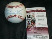 Frank Robinson autographed Baseball JSA Certified Personalized To Gloria