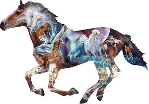 800 Piece Horse Shaped Puzzle by SunsOut The Mystery of the Horse Art by Kim Mce