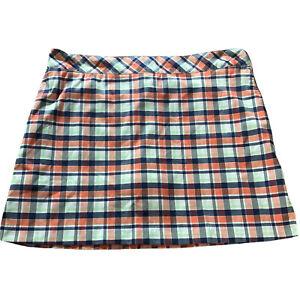 Izod Plaid Golf Skort Women's Size 14 Shorts Skirt Stretch Tennis Athletic