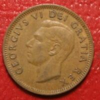 1951 Canada Cent Penny , Circulated , Canadian Coin , Free Shipping!