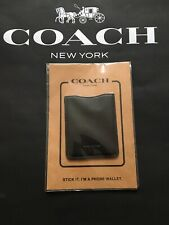 BNWT COACH POCKET STICKER F24051 BLACK made in Philippines