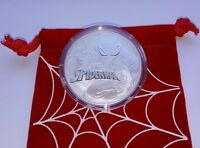 2017 Tuvalu Marvel Spiderman 1 oz. .999 Silver $1 Coin In Mint Cap w/ spider bag
