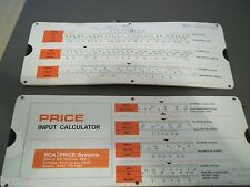 2 1976 PERRYGRAF USA RCA PRICE SYSTEMS INPUT CALCULATOR SLIDE RULE ENGINEERING