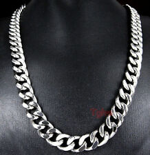 Chain Necklace Silver 10mm 24'' Men Wholesale 5pcs Lot Stainless steel Curb Link