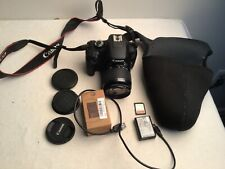 Canon EOS Rebel T100 18Mp DSLR Camera with 18-55mm III Lens +extras low shutter