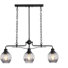 Farmhouse Light Chandelier Pendant Fixture Modern Hanging Kitchen Island Glass 3
