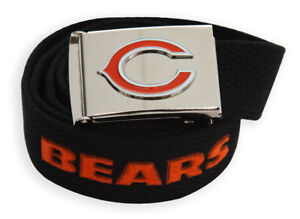 Web Belt with Buckle Chicago Bears