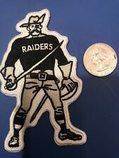 "Oakland Raiders Vintage Iron on Embroidered CLASSIC  Patch 4"" X 2.5"""
