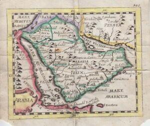 1681  Duval/Hoffman Map of Arabia