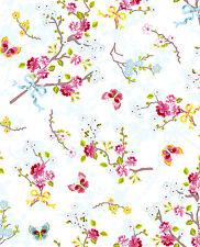 Tapete PIP Studio 4 / Eijffinger 375070 / Floral Creme Rosa Blau / 10,14€/qm