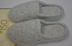 ISOTONER  Embroidered Terry Secret Sole Clog SZ SM NEW WITH TAG