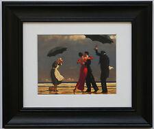 The Singing Butler by Jack Vettriano Framed & Mounted Art Print Black Frame