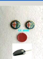2x Alfa Romeo Key Fob Logo Emblem Badge Sticker 15mm