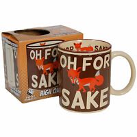Funny Saying For Fox Sake Mug. Cup Coffee Tea Ideal Gift For Him Or Her Kitchen