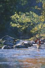"""Fishing Mad River"" Michael Dudash Fine Art Canvas Giclee"