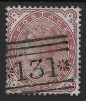 "SG167-1&1/2d.Venetian Red.  VFU With A Neat ""131 Stars"" Edinburgh Pmk. Ref:07168"