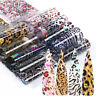 10Pcs Nail Foils Transfer Stickers Leopard Nails Art Decals Decoration DIY Tips
