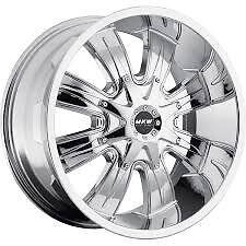 MKW M82 Chrome Wheel 20x9.5 8x180 +10 NEW Rim