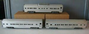 Lionel Train Silver Cloud Silver Bluff Silver Range Passenger Cars #TR26