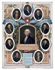 Masonic Masons of the Revolution 12 x 18 Freemasons art print poster ring