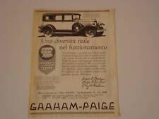 - advertising Pubblicità 1928 GRAHAM PAIGE 629
