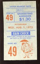 August 1 1973 Ticket Stub Pittsburgh Pirates at New York Mets