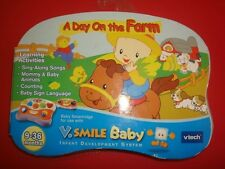 NEW VTECH  SMILE BABY  A DAY ON THE FARM 9-36 MONTHS boys & girls V-smile NIB