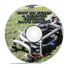 Custom Plans To Build An Engineered Remote Control Lawn Mower PDF and Videos DVD