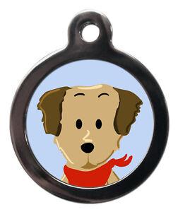 Golden Retriever Breed Cute Fun Pet Tags - Dog Cat ID Collar Tag - ENGRAVED FREE