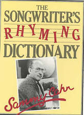 Songwriter's Rhyming Dictionary, Good Condition Book, Sammy Cahn, ISBN 978028562