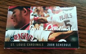 St. Louis Cardinals Fold Up Pocket/ Full Schedule 2008