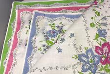 6 Ladies vintage pocket Cotton  Clean Floral Colours