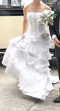 Unique Nicky Vankets Designer Wedding Dress (Originally cost £3000)