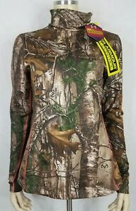 NWT Under Armour RealTree camouflage camo print Scent Control Cold Gear shirt M