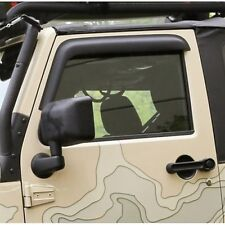 Jeep Wrangler JK 2-türer Set Wind Deflector Black Matte fensterblenden 07-16