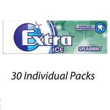 WRIGLEYS EXTRA ICE SPEARMINT FLAVOUR 10 PIECES CHEWING GUM x 30 PACKETS 115233