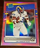 CAM AKERS 2020 Donruss Optic Preview #P-325 Pink Holo Rated Rookie SP RC