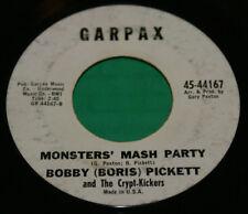 "Bobby Boris Pickett And The Crypt-Kickers  Monster Mash Garpax Record 7"" 1962"