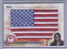 New listing Kari LaRaine Miller 2012 Topps U.S. Olympic Team Hopefuls Usa Flag Patch Flp-Klm